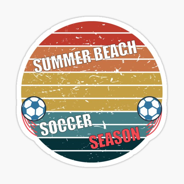 Summer Beach Soccer Season Sticker