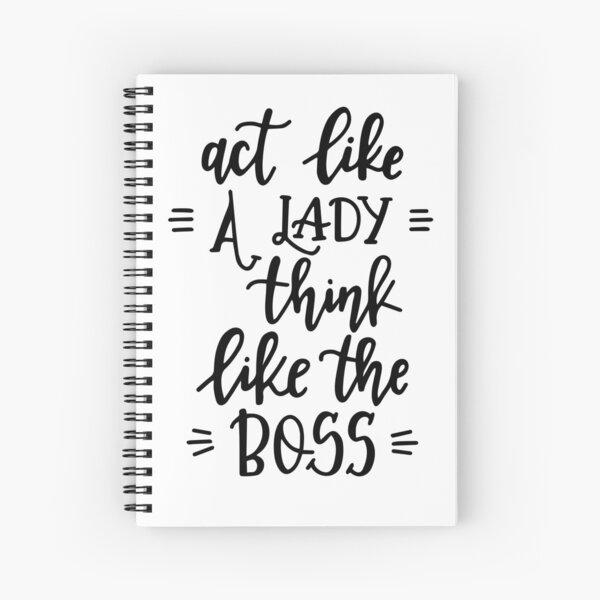 Lady Boss Inspirational Message Print on Demand Spiralblock