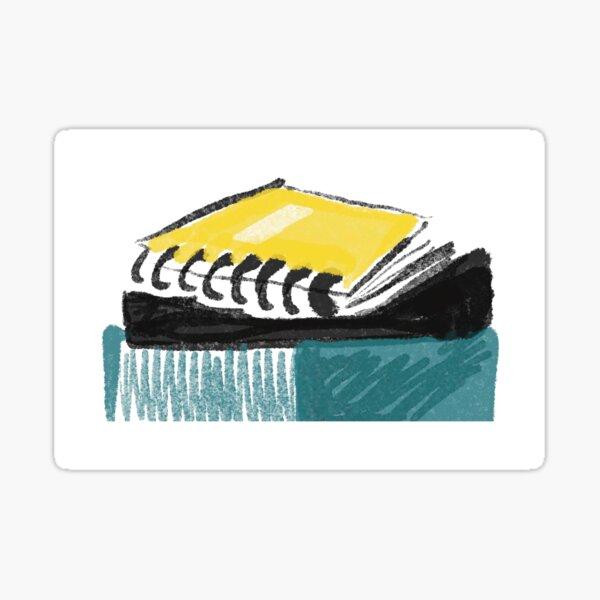 Yellow Notebook Sticker