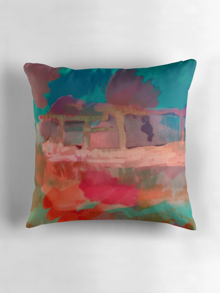 Red Green And Blue Throw Pillows :
