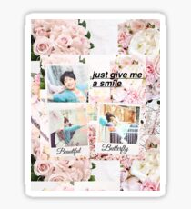 BTS Jungkook Run Polaroids  Sticker