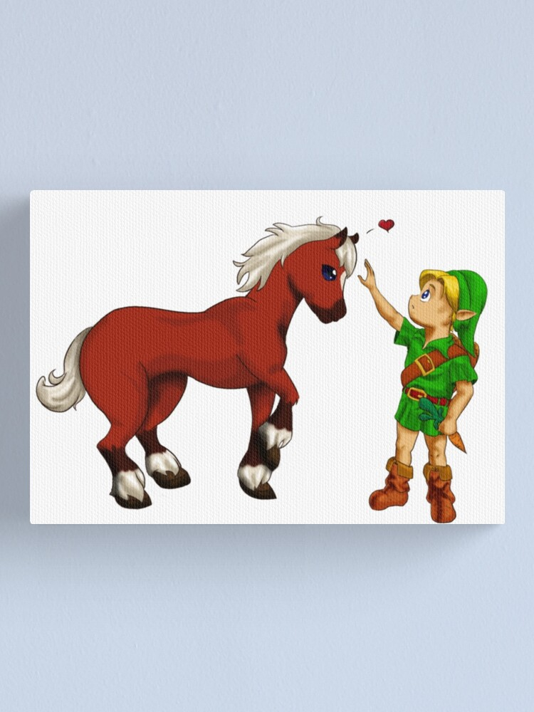 Young Link and Baby Epona | Canvas Print