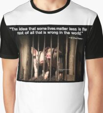 Speciesism - Pigs in a Cage Graphic T-Shirt