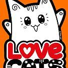 Liebe Katzen - Neko Yoko Katze von Natalie Cat