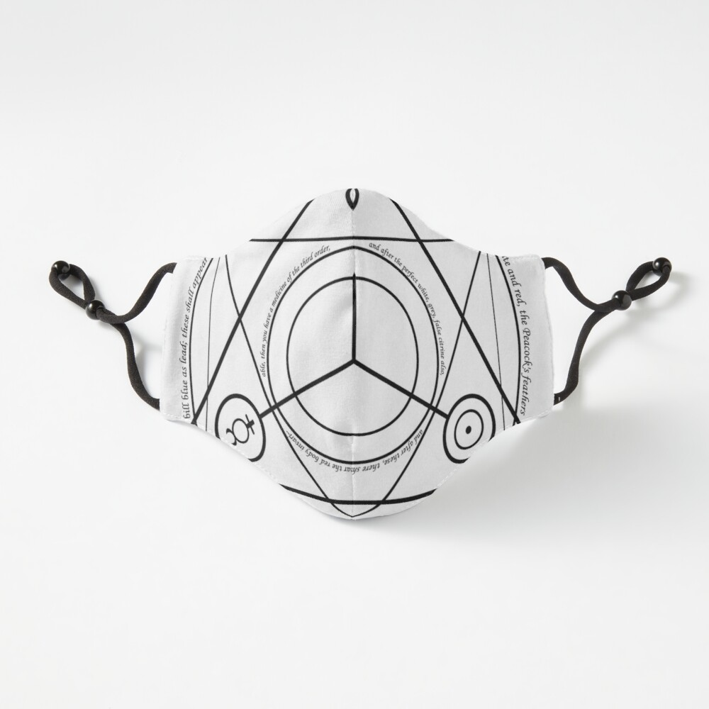 Alchemy Symbol,   ur,fitted_mask_flatlay_fitted_regular,square,1000x1000
