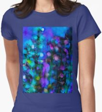 Abstract Art Floral Duvet Cover Women's Fitted T-Shirt