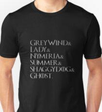 Game Of Thrones Direwolves Unisex T-Shirt
