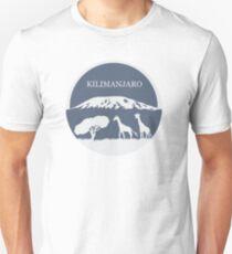 Kilimanjaro (Blue) Unisex T-Shirt