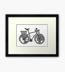 World Tour Bicycle  Framed Print