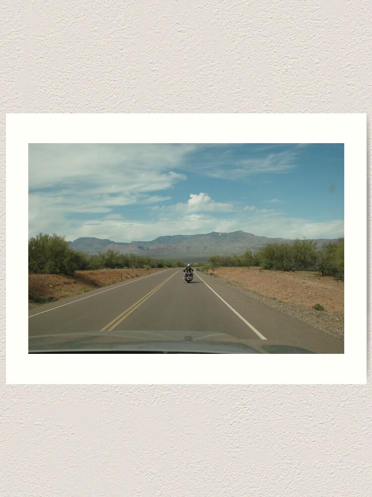 Alternate view of Arizona State Highway 88 Art Print