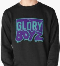 GLORY BOYZ Light Blue and Purple Pullover