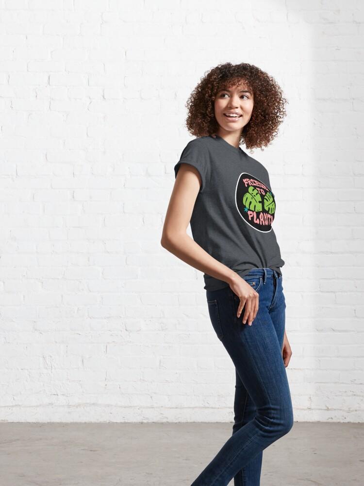 Alternate view of friend to plants | monstera leaf & stars Classic T-Shirt