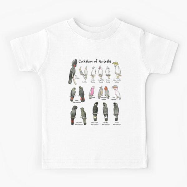 Cockatoos of Australia - Raising funds for Birdlife Australia Kids T-Shirt