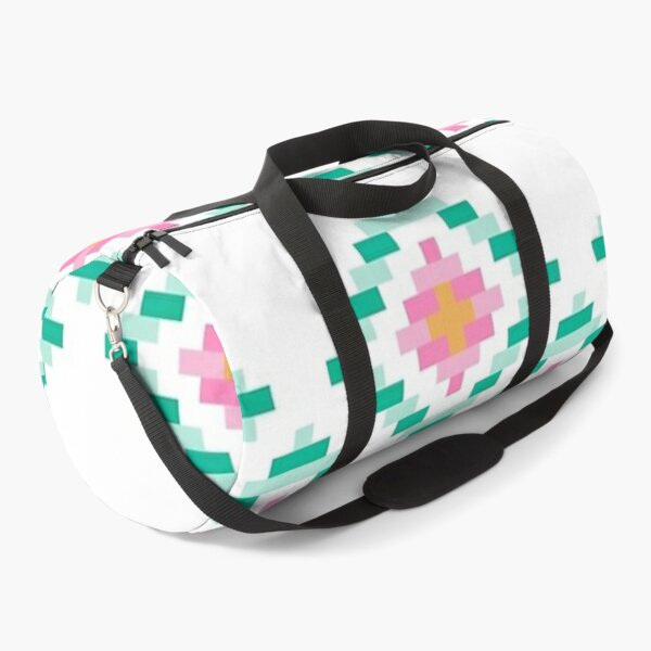 Pink and Green Aztec Merchandise Duffle Bag
