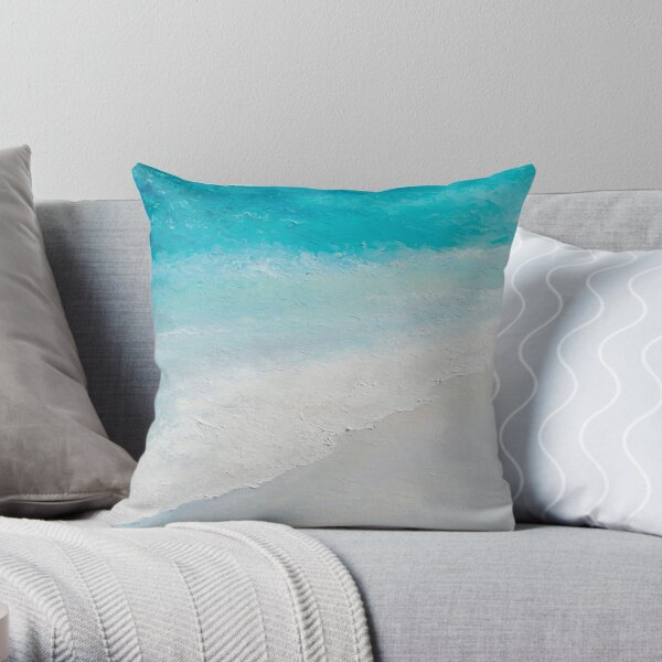 Surf painting Throw Pillow