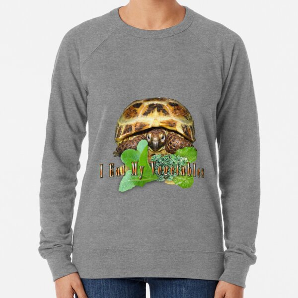 Tortoise - I Eat My Vegetables Lightweight Sweatshirt