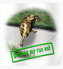 Tortoise - Getting my run on Poster