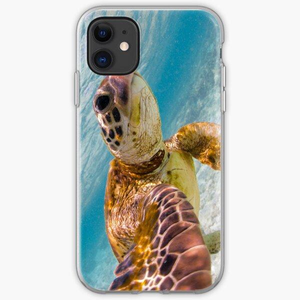 Sea turtle selfie iPhone Soft Case