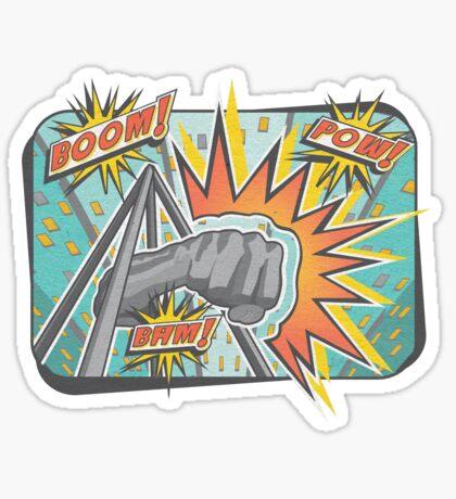 Pop Comic Series: Joe Louis Power Punch Sticker