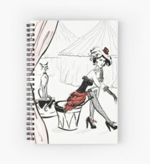 Fashion Circus Illustration Spiral Notebook