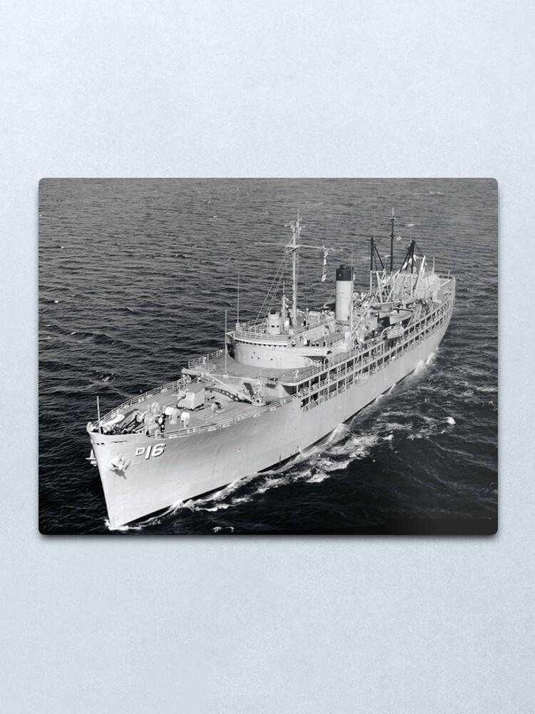Alternate view of USS CASCADE (AD-16) SHIP'S STORE Metal Print