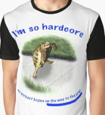 Tortoise - hardcore workout Graphic T-Shirt