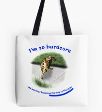 Tortoise - hardcore workout Tote Bag
