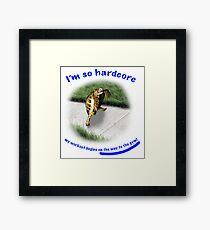 Tortoise - hardcore workout Framed Print