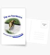 Tortoise - hardcore workout Postcards