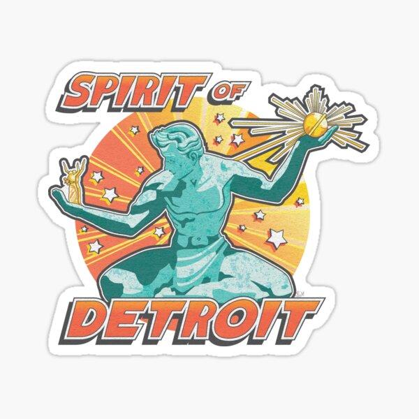 Pop Comic Series: Spirit of Detroit Sticker