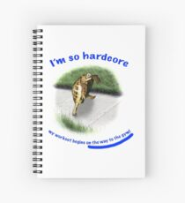 Tortoise - hardcore workout Spiral Notebook