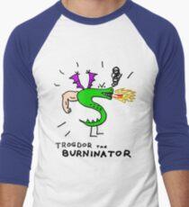 Trogdor, The Burninator Men's Baseball ¾ T-Shirt