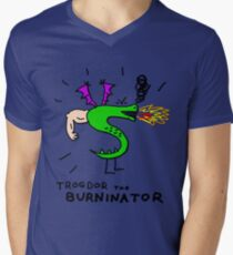 Trogdor, The Burninator Men's V-Neck T-Shirt