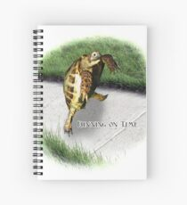 Tortoise - Running on time Spiral Notebook
