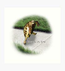 Tortoise - Running on time Art Print