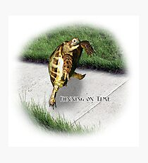 Tortoise - Running on time Photographic Print
