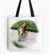 Tortoise - Running on time Tote Bag