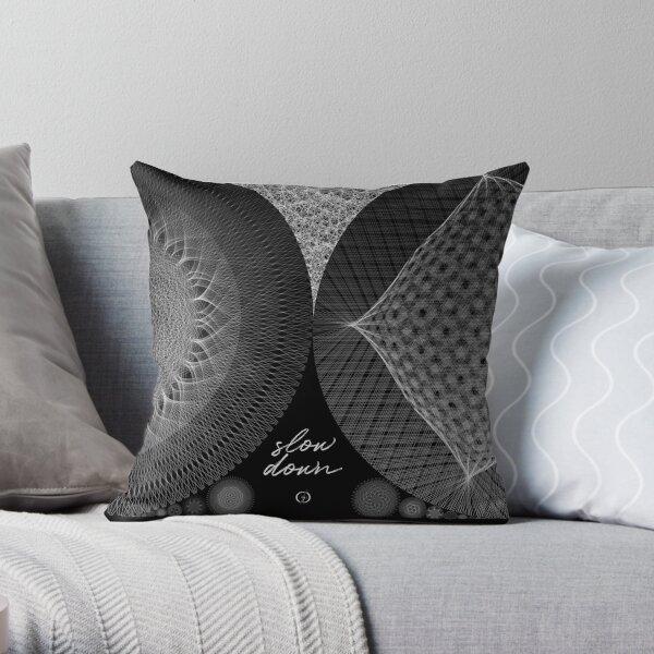 Contemporary Mandalas Track   Slow Down   Black hole Throw Pillow