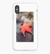 Gorgeous picture of leaf in water  iPhone Case/Skin