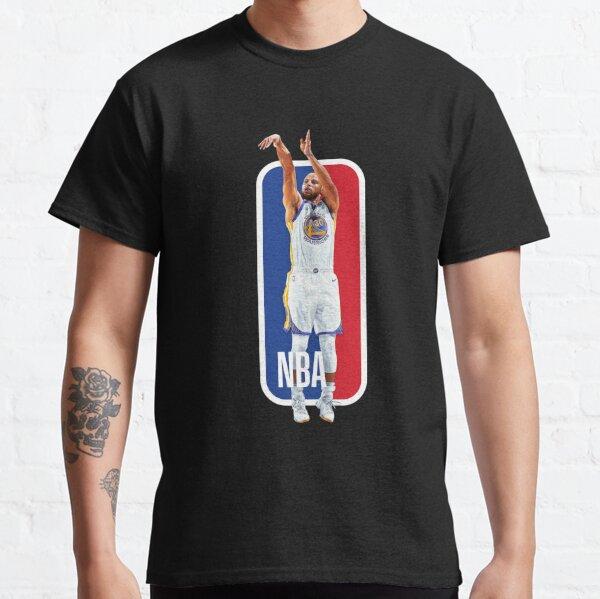 Stephen Curry sur le logo de la NBA T-shirt classique