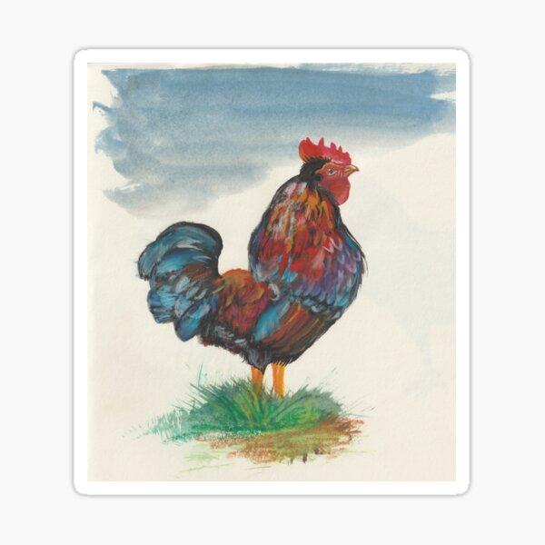 Rainbow Rooster Sticker