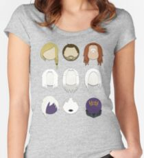 Defiance Minimalistic Character Set  Women's Fitted Scoop T-Shirt