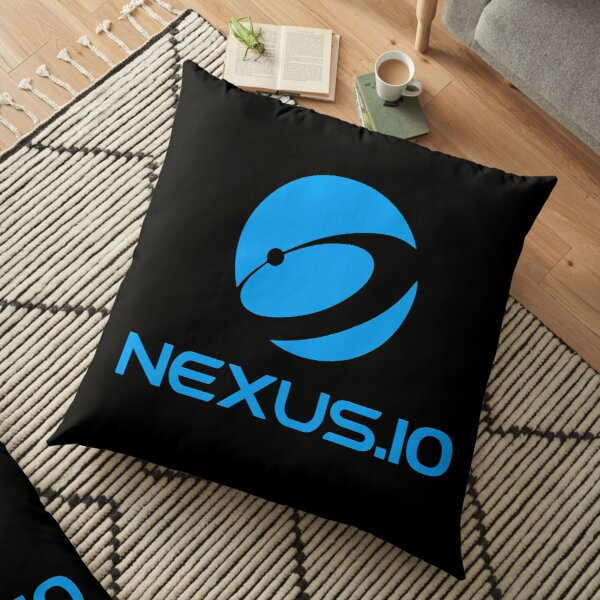 Nexus.io Official Globe Blue Floor Pillow
