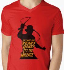 Indiana Jones:  It's the Mileage Men's V-Neck T-Shirt