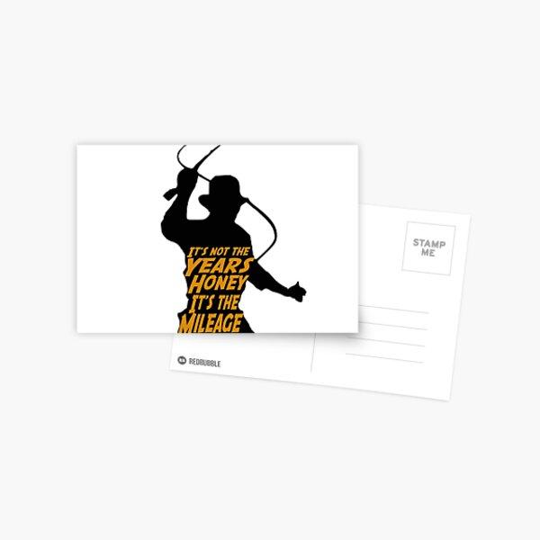 Indiana Jones:  It's the Mileage Postcard
