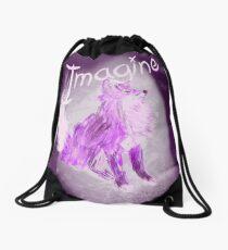 Imaginative Fox Drawstring Bag