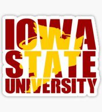 Iowa State University Cy Silhouette Sticker