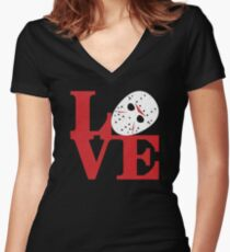 LOVE Friday the 13th Women's Fitted V-Neck T-Shirt
