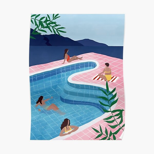 Pool Ladies | David Hockney Affiche Poster