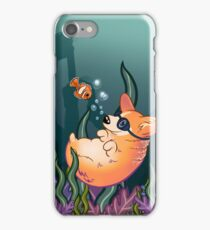 Underwater Corgi  and Clown Fish iPhone Case/Skin